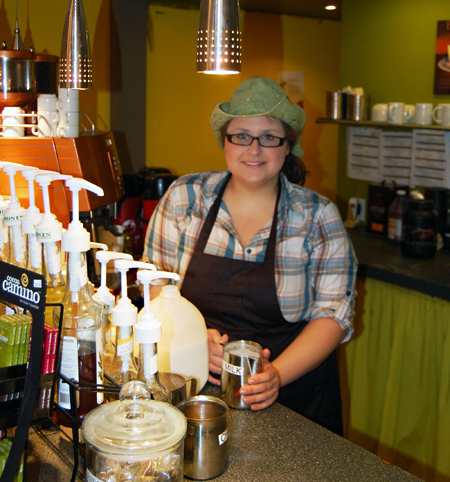 Christi Dale liked the cowgirl look as she rode herd on the smoothies, coffees and juices on offer at Jus Juiced. David F. Rooney photo