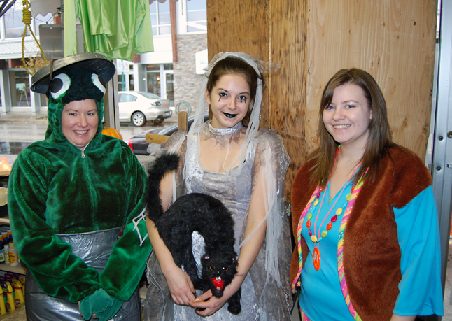 Revelstoke Florists is Costume Central every Halloween and this year its staff, Deanna Ward, Angela Black and Kristin Ward were dressed for the occasion. David F. Rooney photo