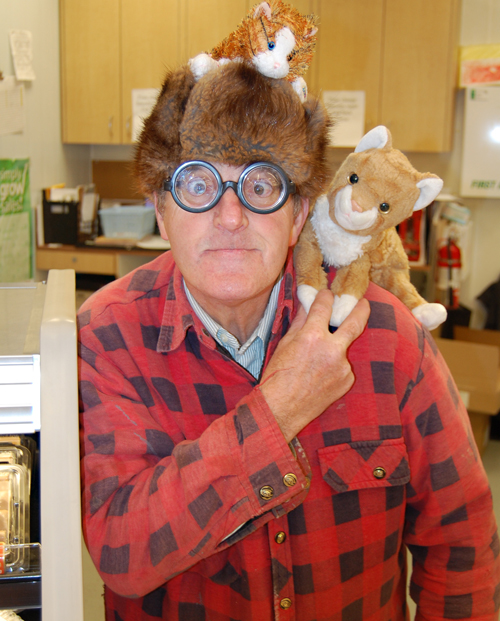 """Paul Lesque has that """"Bubbles"""" going on with his eyeglasses at the Cooper's meat section. David F. Rooney photo"""