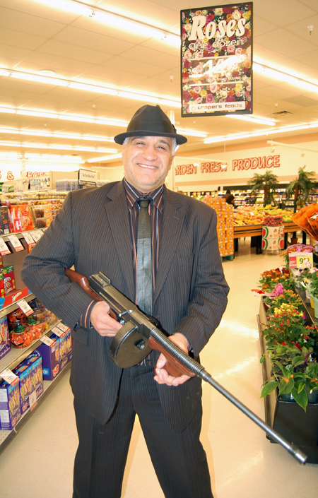 Cooper's Manager Joe Mele is always a straight shooter, even when he's dressed to kill as Al Capone. David F. Rooney photo
