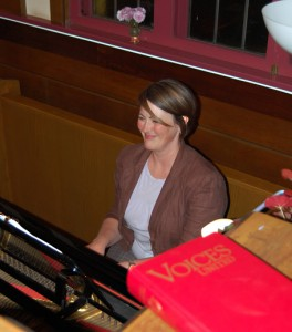Lida Carey was the very accomplished accompanist during the Voices for Hospice rehearsal on Tuesday night. David F. Rooney photo