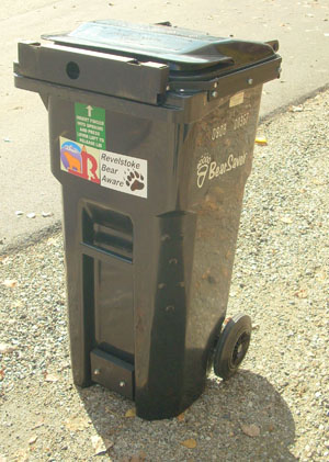 This is one of the Bear Saver cans used in Johnson Heights. Photo courtesy of Revelstoke Bear Aware