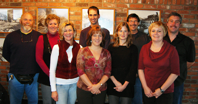 Meet the board of directors for the Chamber of Commerce, which acclaimed four new directors on Wednesday. From left to right are Eric Tompkins, Deenie Ottenbreit, Poppi Reiner, Steve Bailey, Melodie Kindret, Meghann Hutton, Don Teuton, Emma Kirkland and Brydon Roe. Kirkland, Roe and Kindret were elected to the board for the first time. Hutton had just finished a term and was acclaimed again. David F. Rooney photo