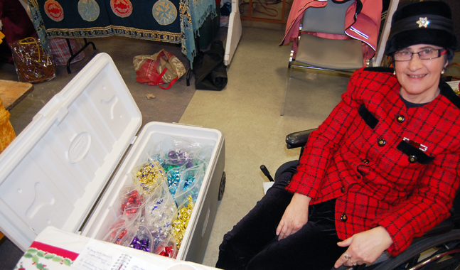 Linny Lamarche of New Denver has a true treasure trove at the Handmade Parade: a cooler filled with her unbelievably delicious handmade truffles. If you haven't tried these don't miss your chance to buy some on Sunday. David F. Rooney photo