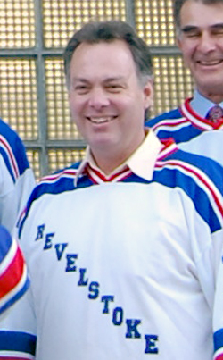 MLA Norm Macdonald, a former Golden hockey player, has gone beyond the call of duty by not only wearing a Reveslstoke hockey jersey but by submitting his own story in support of Revelstoke's bid to become Hockeyville 2010. Revelstoke Current file photo