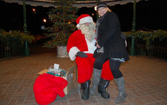 Tell us, Santa, has Carrie MacDonald been naught or nice this year? David F. Rooney photo