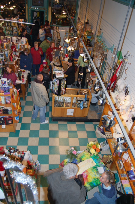 It wasn't quite pandemonium inside Grizzly Books on Friday, but like most downtown businesses there was touch of madness to the evening shopping. David F. Rooney photo