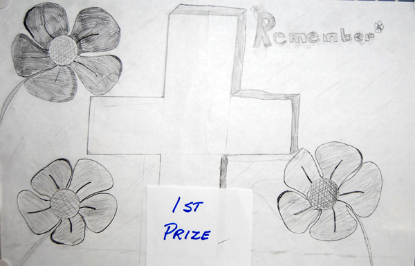 Alexis Pilon won first prize in the Grade 4/5 black and white poster category.