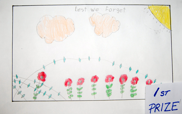 Hannah Winger won first prize in the Grade2/3 colour poster category.