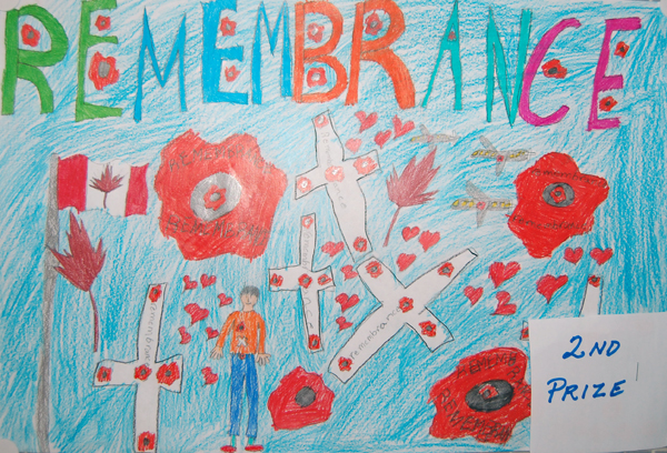 Kobe Brunetti won second prize in the Grade 2/3 colour poster category.