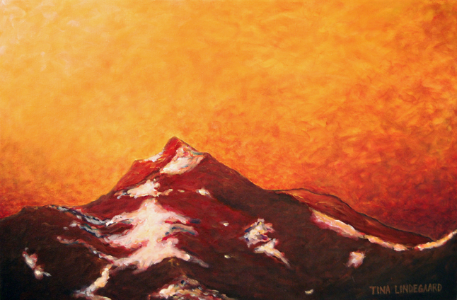 Tina Lindegaard's Mount Cartier Aglow sets the imagination afire. David F. Rooney photo