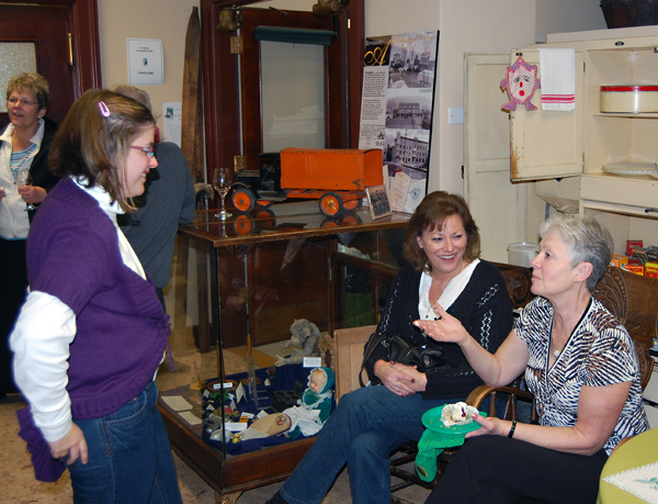 Barb Ross (left) talks with ?? and Cheryl Wolgram (right) . David F. Rooney photo