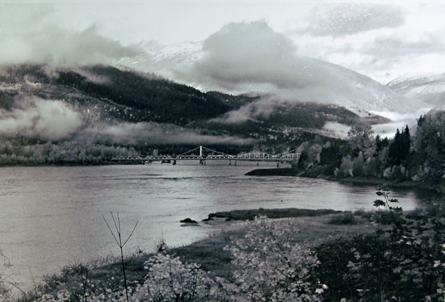 Lauren Dieleman's black and white photo of the city, In Between Fall and Winter, won first prize for 13-to-17-year-olds in the Spirit of Revelstoke category.