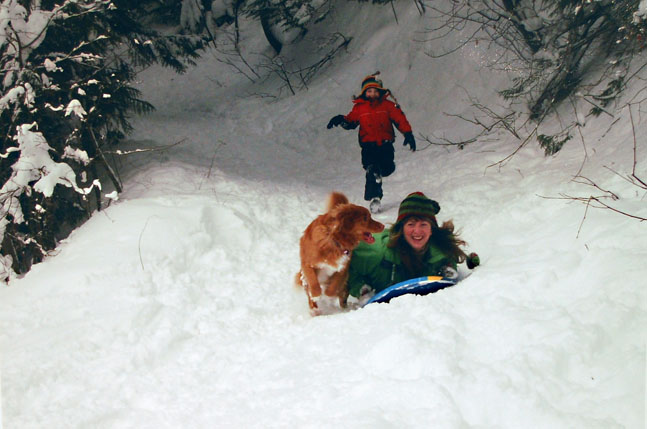 Daniel Blackie's photo, My Mom Goes Downhill, was the best image by a child under 12 in the Alternative Route Category.
