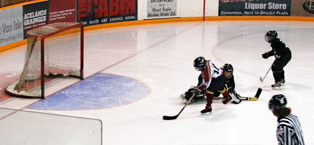 And when Revelstoke did have opportunities to score they took them like this unassisted goal. David F. Rooney photo