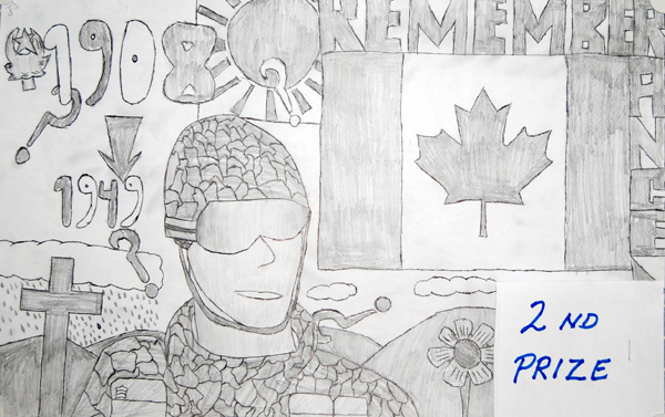 Kane Campbell won second prize in the Grade 6/7 black and white poster category.