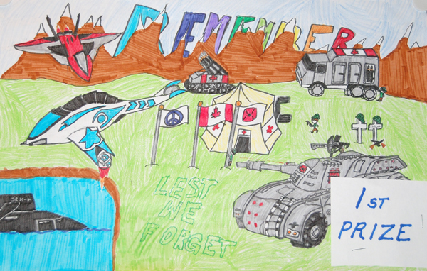Grayson Norsworthy won first prize in the Grade6/7 colour poster category.