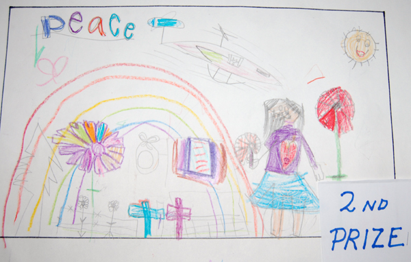 Holly Hamilton won second place in the Grade 1 students' colour poster category.