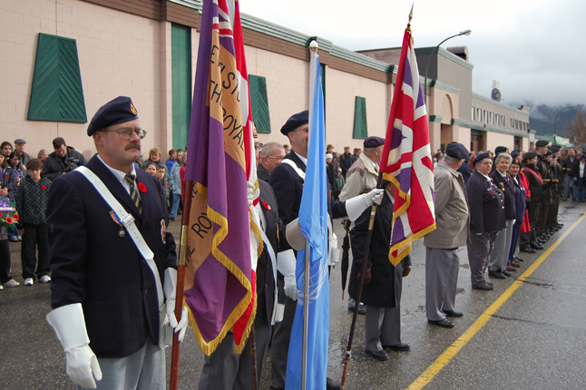 Members of the Royal Canadian Legion stand easy as they wait for the Remembrance Day ceremony to begin. David F. Rooney photo