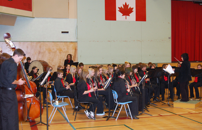The RSS band played beautifully at the high school's Remembrance ceremony on Tuesday.