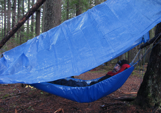 John Todd's shelter would do the trick, particularly if the ground was really wet. Photo courtesy of Revelstoke SAR