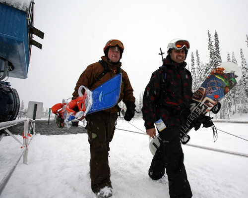 These two boarders looked eager for action. Photo courtesy of Karilyn Kempton/Revelstoke Mountain Resort