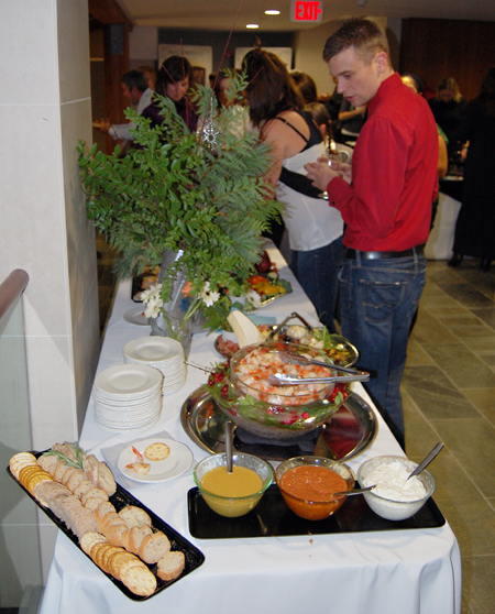 The hors d' ouevres catered by the Modern were outstanding.  David F. Rooney photo