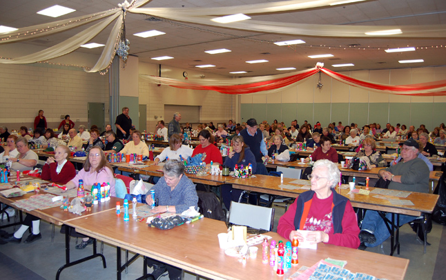 This isn't something you every day: 116 people all daubing away at their bingo sheets in hope of winning a big jackpot. In this case it was a payout of more than $20,000 at the Knights of Pythias Bingo night at the Community Centre on Thursday. David F. Rooney photo