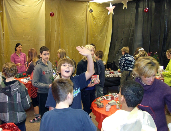 A big thanks to all parents and students who made and purchased cristmas crafts at our craft fair. The 350 dollars that was collected will go towards local charities decided upon by the students council. A special thanks to Shannon Bollefer for taking on the task of organizing this years fair. Photo courtesy of Bob Cooper