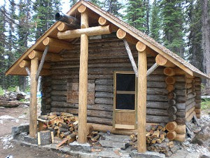 This is the Glacier Circle Cabin at the conclusion of the reconstruction. Photo courtesy of the Friends of Mount Revelstoke Glacier