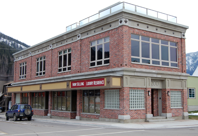 Steve Platt's building at 200 Second Street East is the nominee for the Commercial Infill category. Although new, Platt's building perfectly captures the spirit of Revelstoke's architectural heritage. David F. Rooney photo