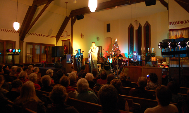 This gives you an idea of the scene inside the United Church. The mix of secular and spiritually themed Christmas music was geatly appreciated by the audience. David F. Rooney photo
