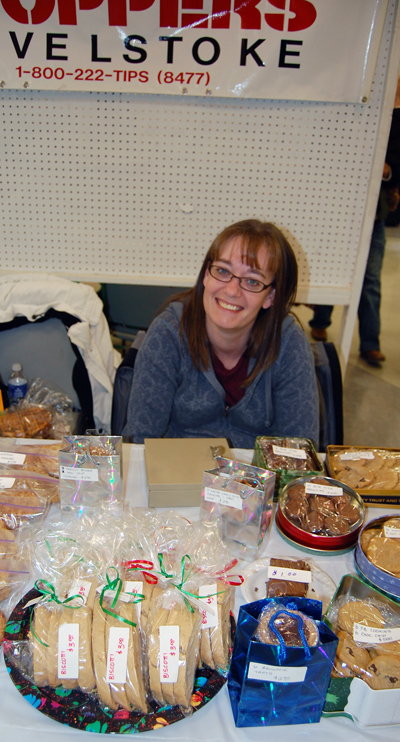 Crime Stoppers' Shawn Fillipchuk had some arresting baked goods for sale at the No Host Bazaar. David F. Rooney photo