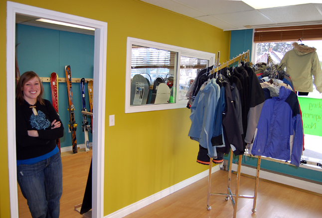 Rayni Motiuk has a simple dream. She wants to help you turn your used sports equipment into crisp cash. Her new venture, Re Psyched Consignment Sporting Goods, opens officially on Dec. 15. The store is located at 204 First Street East beside The Cabin. David F. Rooney photo