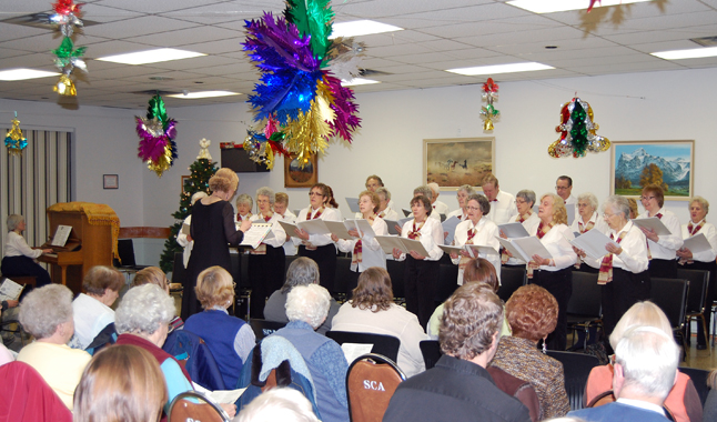 More than 60 people attended the Selkirk Singers' Christmas Concert at the Seniors' Centre on Friday evening. David F. Rooney photo.