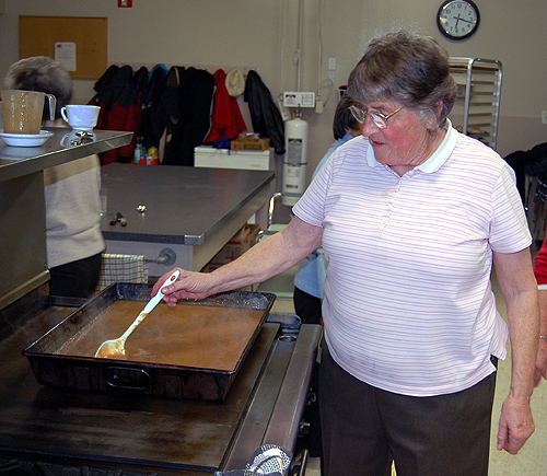 Myrna Robinson was one of several seniors and others who worked in the kitchen or as serving staff. David F. Rooney photo