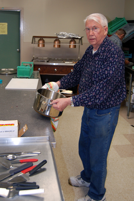 Ken Magnes was one of the guys who handled kitchen patrol. David F. Rooney photo