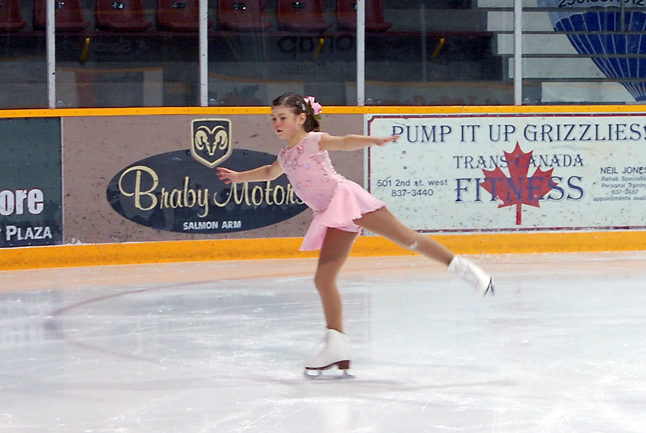 Alexi Mostert glides across the ice during her performance at the Skating Club's annual Christmas show. David F. Rooney photo