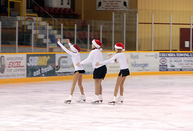 Junior Group skaters Alyssa Peluso, Chloe Speerbrecker and Alexis Templeton perform My Only Wish This Year. David F. Rooney photo