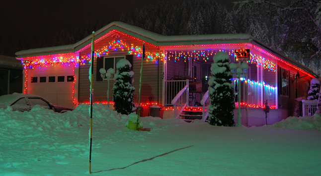 This house across the Trans-Canada in Columbia Park fairly glows.  David F. Rooney photo