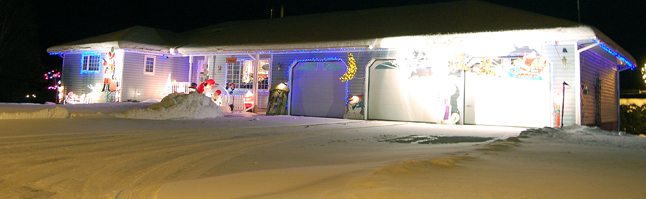 Here's a house in Clearview Heights that lights up the streetscape.  David F. Rooney photo