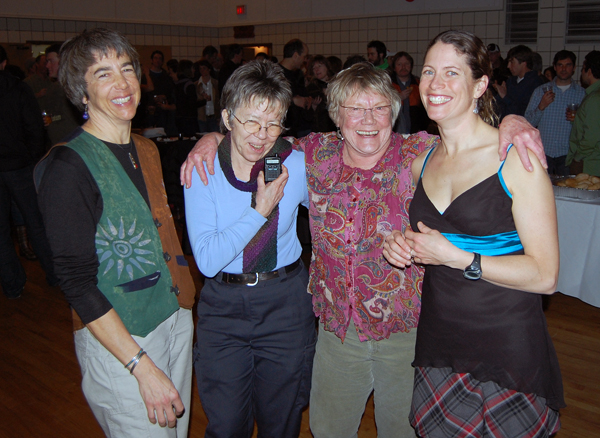 Nancy Geismar, Antoinette Halberstadt, Toni Johnston and Sarah Newton were obviously having a great time.  David F. Rooney photo