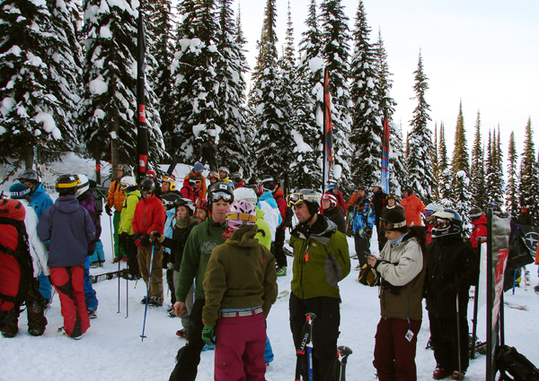 This was what part of the crowd looked like at the Freeskiing World Tour at RMR on Wednesday. Karen McColl photo