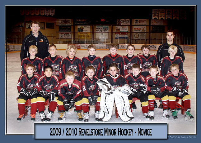 """The Revelstoke Novice Junior Grizzlies were in Vernon on the weekend for the Novice Frosty Challenge Tournament and played four other teams in the Division A Pool, went undefeated and met in the gold medal round against the top team in the Division B pool, the Vernon Sharks, and won that one too!  A good time was had by all and the """"little guys"""" were great. Photo courtesy of David Savage"""