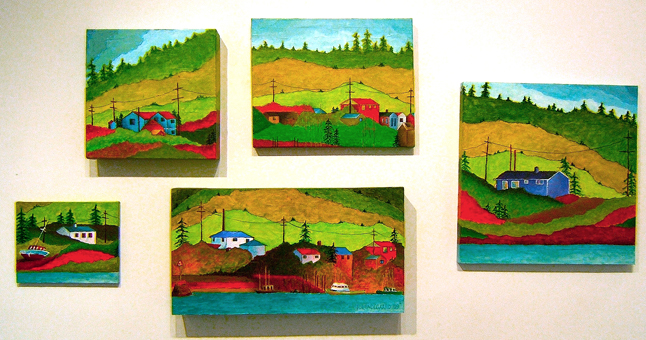 Fishing Village by Tina Lindegaard. However, only three of the five images in this installation will actually be exhibited. Image courtesy of the artist