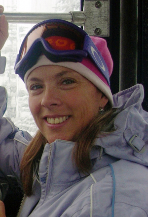 Pauline Hunt, a former BC downhill mountain bike champion, has been diagnosed with ALS. Photo courtesy of Simon Hunt