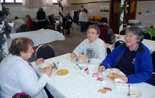 Ruth Melnyk, Sophie Salva and Myrna Robinson enjoyed their lunch and some friendly conversation. David F. Rooney photo