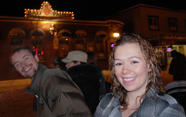 Shane McCallum and his wife Katie were two of the music lovers who came out for the Street Party. David F. Rooney photo
