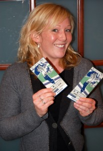 Do you feel lucky? That's what the lovely Samantha Vause wants to know. She's holding two tickets to the March 18 Vancouver Canucks game against the San Jose Sharks. If Lady Luck smiles you could win them PLUS two nights for two at the Rosedale on Robson Suite Hotel. But you can't win if you haven't submitted a story to help Revelstoke win the national Kraft Hockeyville contest. Got to www,revelstokehockeyville.com to find out how to submit your story today. David F. Rooney photo