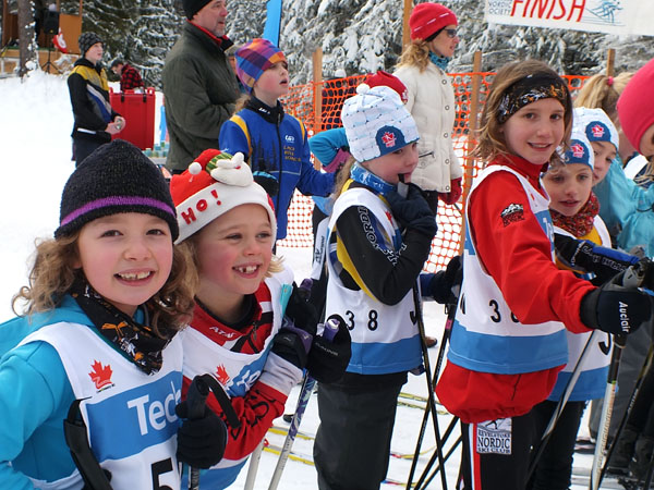 Our young local skiers were excited and happy with the results. Photo courtesy of Sarah Newton